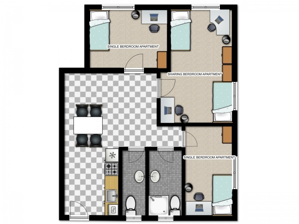 West-City-Single-Sharing-Apartment