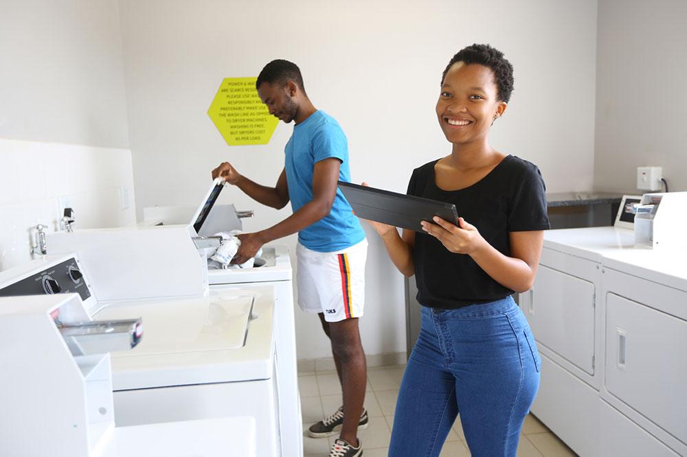 students laundry